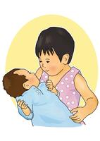 赤ちゃんをあやす子供 28144091939| 写真素材・ストックフォト・画像・イラスト素材|アマナイメージズ