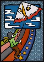 凧揚げ 28144092024  写真素材・ストックフォト・画像・イラスト素材 アマナイメージズ