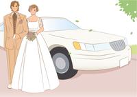 車の前に立つ新郎新婦 28144092180| 写真素材・ストックフォト・画像・イラスト素材|アマナイメージズ