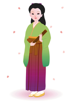 袴をはいた女性
