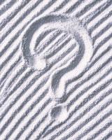 砂のクエスチョンマーク 28144092345| 写真素材・ストックフォト・画像・イラスト素材|アマナイメージズ