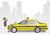 タクシー 28144092510  写真素材・ストックフォト・画像・イラスト素材 アマナイメージズ