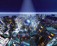 未来都市のCGイメージ