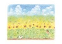 ひまわり畑 イラスト