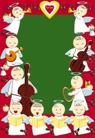 天使のクリスマスイメージ イラスト