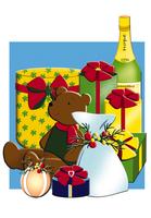 クリスマスプレゼント イラスト 28144095556  写真素材・ストックフォト・画像・イラスト素材 アマナイメージズ