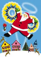 サンタクロースのクリスマスイメージ イラスト