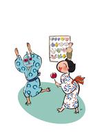 浴衣を着た子供 イラスト