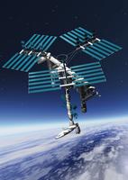 宇宙ステーションのCGイメージ