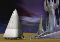 宇宙探査イメージのCGイメージ