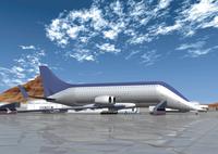 ジャンボジェット機のCGイメージ