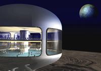 月面基地イメージのCGイメージ 28144096225| 写真素材・ストックフォト・画像・イラスト素材|アマナイメージズ