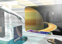 宇宙船の内部のCGイメージ
