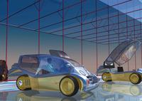 未来の車のCGイメージ