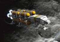 惑星探査船のCGイメージ