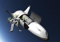 宇宙船と宇宙飛行士のCGイメージ