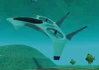 潜水艦のCGイメージ