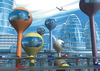 未来都市イメージのCGイメージ