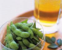 枝豆と生ビール