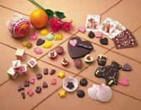 様々な形のチョコレート