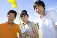 日本人男女ゴルファー