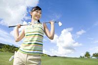 日本人女性ゴルファー 28174007365| 写真素材・ストックフォト・画像・イラスト素材|アマナイメージズ