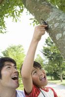 カブト虫を捕まえる子供 28174007410| 写真素材・ストックフォト・画像・イラスト素材|アマナイメージズ