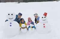 雪だるまとファミリー