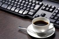 キーボードとコーヒー