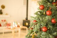 クリスマスシーズンのリビング