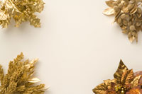 ゴールドクリスマス素材