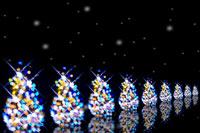 並んだクリスマスツリーと雪のイメージ 28177002879| 写真素材・ストックフォト・画像・イラスト素材|アマナイメージズ