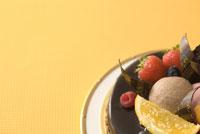 フレッシュフルーツのショコラケーキ