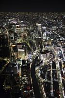 東京上空の空撮