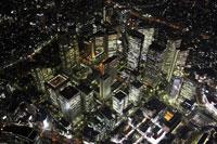 新宿周辺の空撮