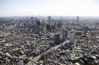 新宿副都心周辺の空撮 28203000161| 写真素材・ストックフォト・画像・イラスト素材|アマナイメージズ