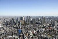 新宿副都心周辺の空撮