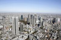 新宿副都心周辺の空撮 28203000181| 写真素材・ストックフォト・画像・イラスト素材|アマナイメージズ