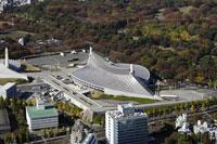 原宿駅周辺の空撮