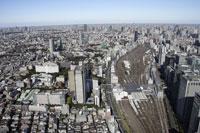 品川駅周辺の空撮