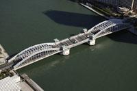 勝どき橋周辺の空撮