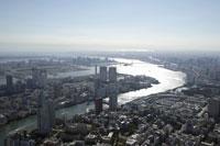 隅田川周辺の空撮