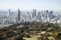 新宿三丁目周辺の空撮