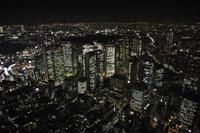 新宿駅周辺の空撮 28203001065| 写真素材・ストックフォト・画像・イラスト素材|アマナイメージズ