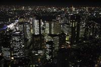 新宿駅周辺の空撮