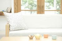 リビングルームのソファ