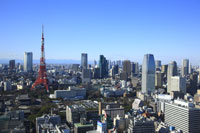 東京タワーと六本木の街並み