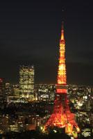 東京タワーと六本木の街並みの夜景