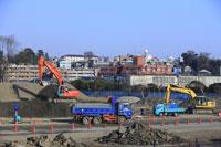 二子玉川東地区再開発工事現場付近