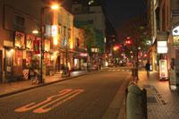 麻布十番商店街の夜景